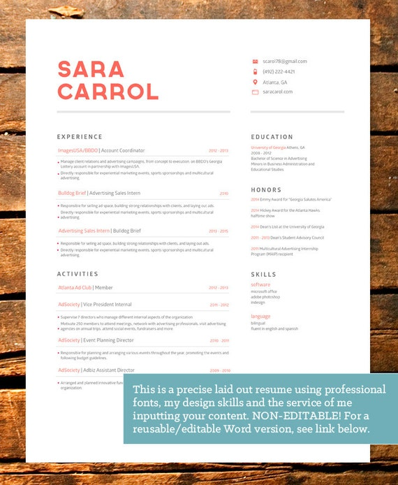 items similar to professionally designed bold resume