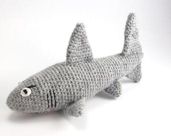 Shark crochet stuffed toy