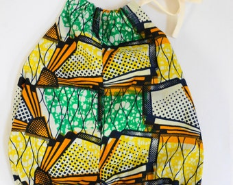 African Wax fabric Romper Sun Suit