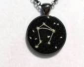 Miniature Embroidery Zodiac Constellation Necklace - Libra