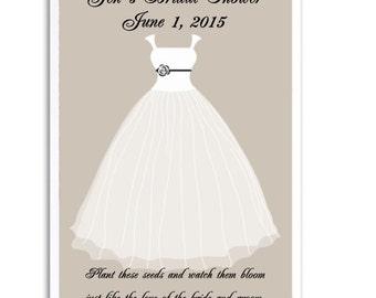 24 Tan Bridal Shower Seed Favors