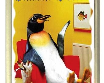 Chillin Out Penguin Fridge Magnet 7cm by 4.5cm,