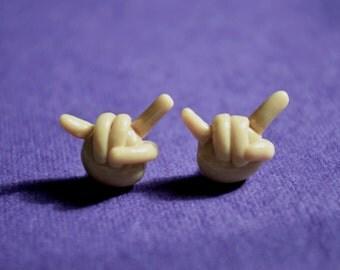 Rock Hand Sign Earrings