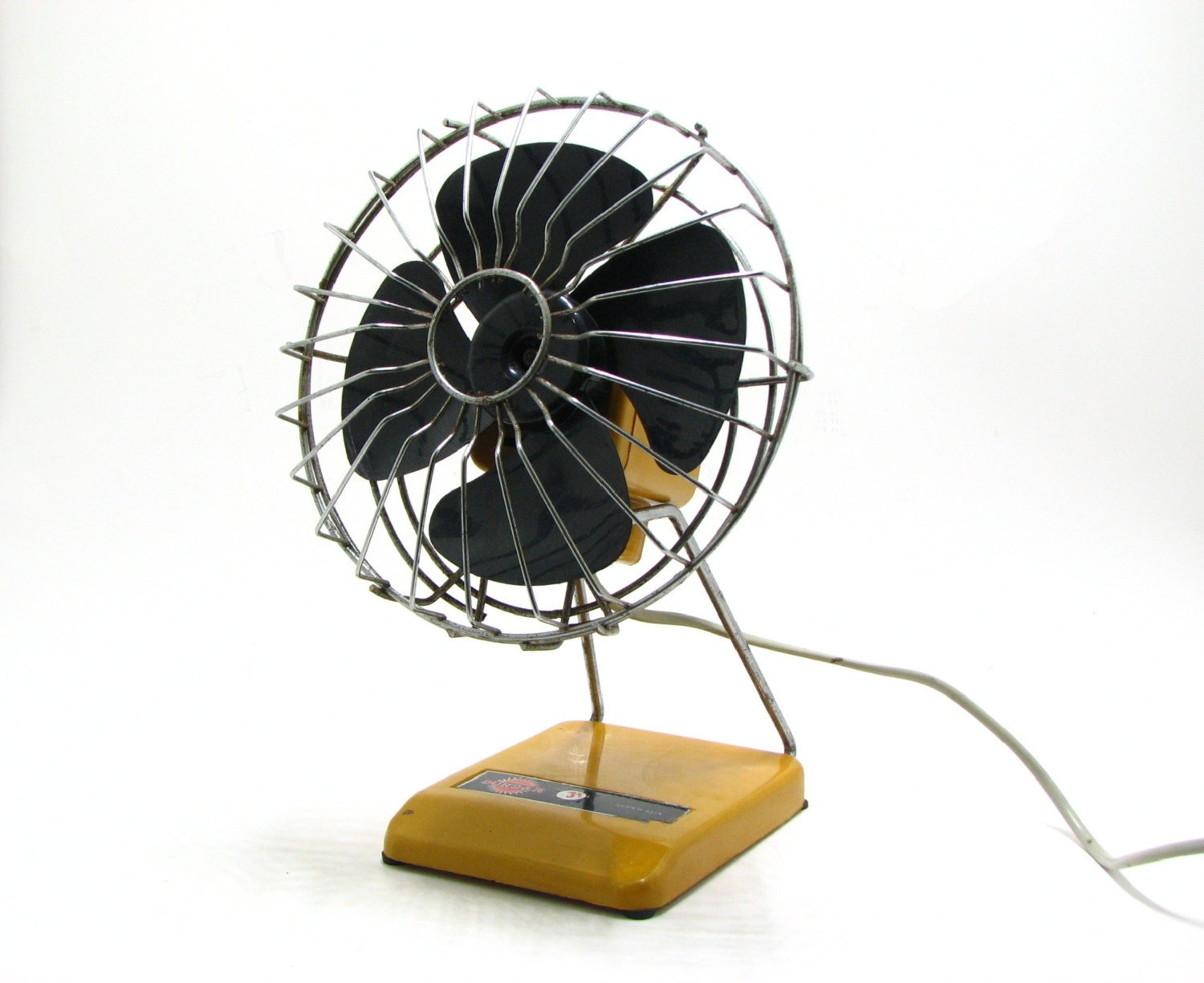 vintage desk fan retro orange electric table fan turkish. Black Bedroom Furniture Sets. Home Design Ideas