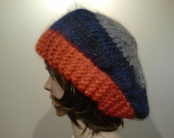 Asymmetric large knitted Cap