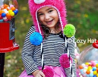 Gumball Monster Hat Made to Order Hand Crochet Furry Monster Beanie
