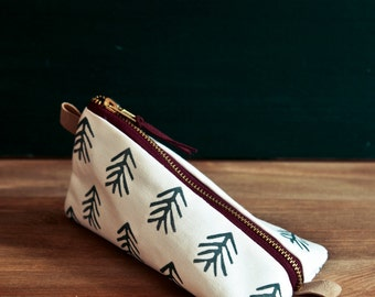 Work at home design pencil case with tree pattern