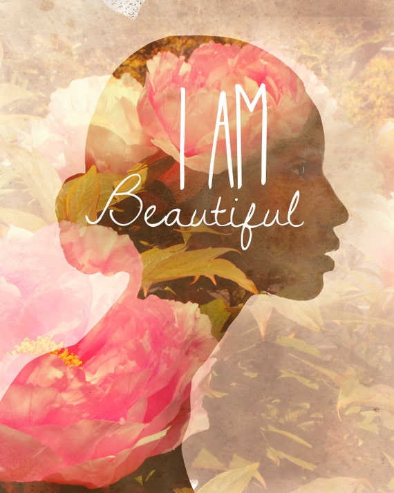I am beautiful powerful etsy posters international women's day 2015