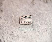 Movie Floating Charm / Floating Locket Charm / Movie Lover Locket Charm / Movie Clapper Board Charm /
