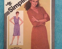 PULLOVER DRESS PATTERN Vintage size 12 Adjustable For Miss Petite For Stretch Knits only