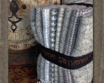 Hand Dyed 100 percent Wool Bundle  Color: Natural - Primitive Gatherings