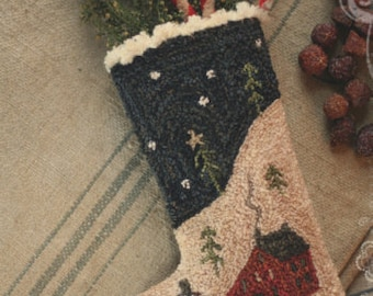 Pattern: Silent Night Punch Needle by Brenda Gervais for Country Stitches/ With thy Needle & Thread