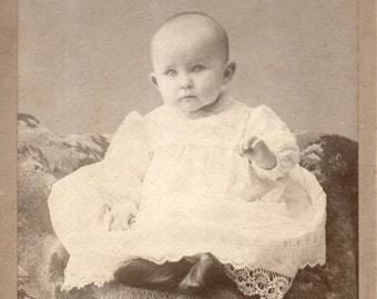 Antique Photo of Cute Bright-Eyed Baby