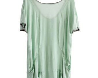 Tunic Dress in green, dress green tunic, One size fits all, one-size-fits-all