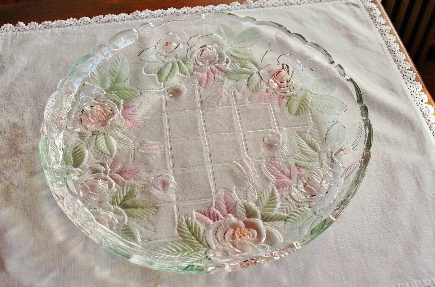 mikasa studio nova beauty rose glass platter mother 39 s