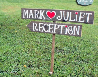 Reception Sign, Wedding Signage,Wedding Reception Decorations, Wedding Reception Sign, Outdoor Wedding Sign, Outdoor Wedding Decor, Wood