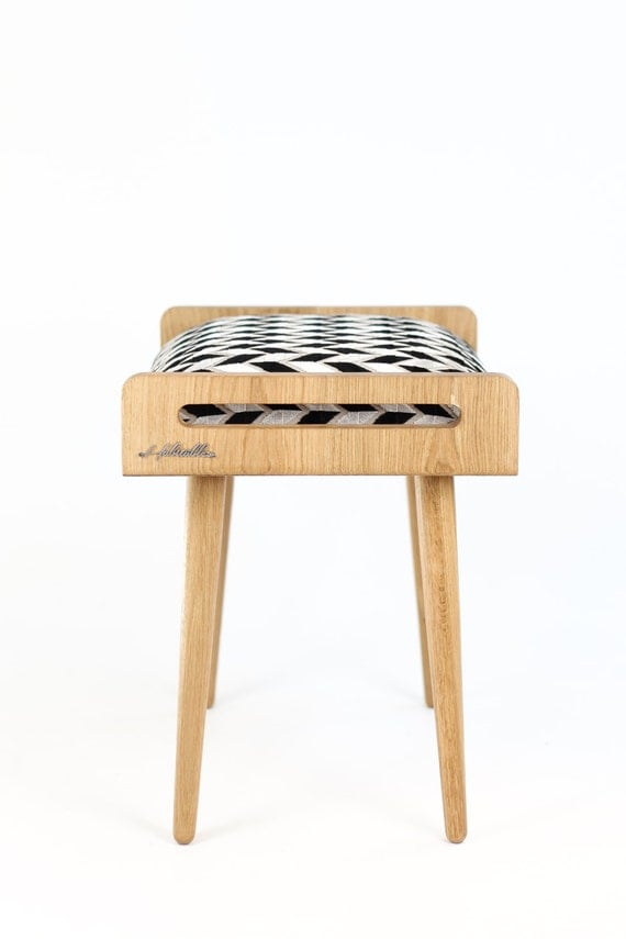 Ottoman Stool Bench Stool Seat Ottoman Bench Made Of Solid Oak Table Oak