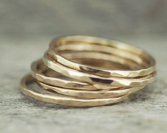 Stacking Ring, Simple Gold Ring, Gold Ring, Ring, Jewelry, Gold Jewelry, Gold Ring, Gold Jewelry, Rings for Women, Promise Ring, Hammered