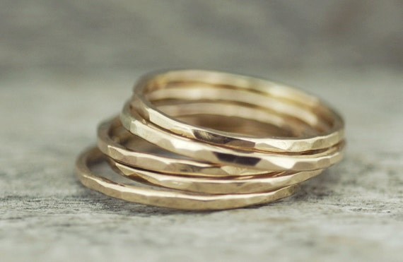 stacking ring simple gold ring gold ring ring by