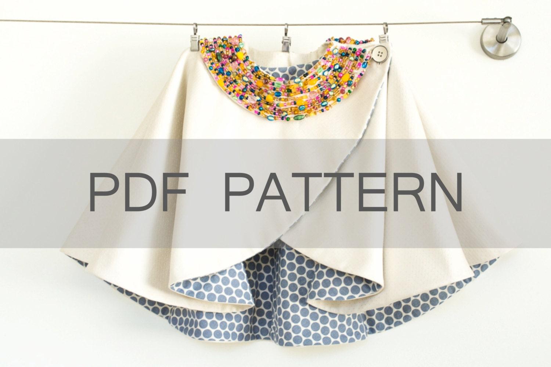 criss cross cape pdf cape pattern girl coat pattern coat. Black Bedroom Furniture Sets. Home Design Ideas