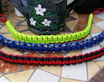 Handmade paracord horse browbands.