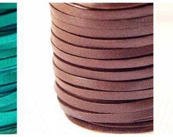 Brown / Red / Turquoise 3mm Deerskin Lace 1 Metres