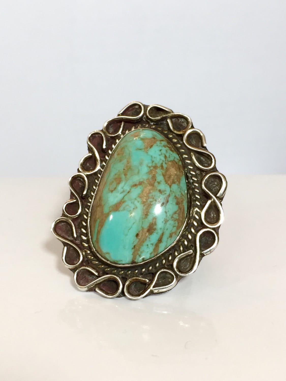 vintage navajo turquoise ring american indian pawn