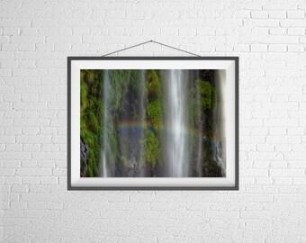 Fine Art Photography Print - Travel, Nature - Waterfall -  Iguassu Falls, Brazil, Argentina, South America