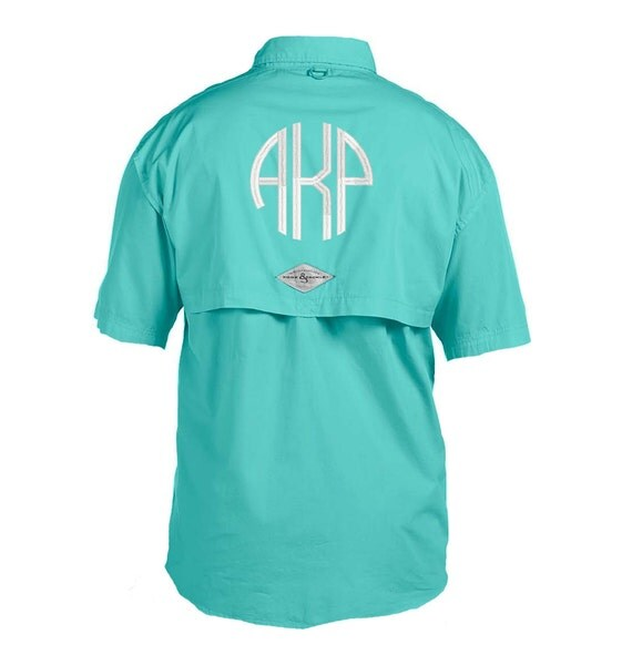 Items similar to monogrammed fishing shirt short sleeve for Monogram fishing shirt