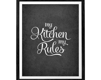 My kitchen my rules. Kitchen art kitchen wall decor kitchen art kitchen wall art kitchen print kitchen poster. Latte Design LatteDesign