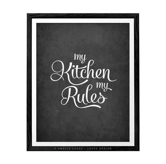 Kitchen Design Rules: My Kitchen My Rules. Kitchen Art Kitchen Wall Decor By