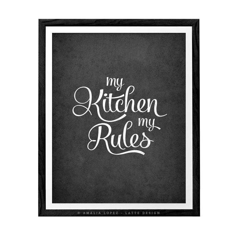 My Kitchen Wall Decor : My kitchen rules art wall decor by