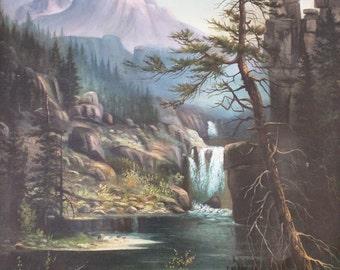 Antique Landscape Painting