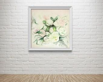 "Fine Art Print of Original Flower Oil Painting // ""Soft Petal"""