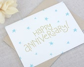 Happy Anniversary Card // Hand Lettered // Wedding Anniversary // Modern Design