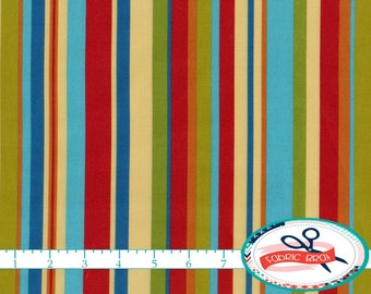 JUNGLE BABIES STRIPE Fabric by the Yard, Fat Quarter Patty Reed Fabric Baby Fabric Apparel Fabric Quilting Fabric 100% Cotton Fabric t5-32