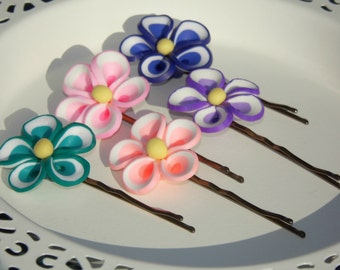 Flower Hair Grips (set of two)