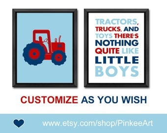 tractor baby boy nursery tractors trucks and toys quote toddlers wall decor boys room decor gift for baby boys playroom art boy wall art