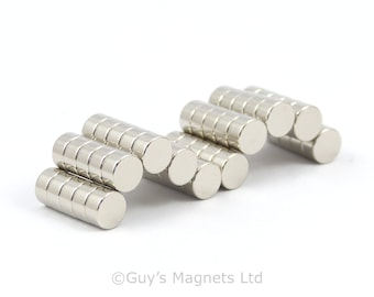6mm x 3mm strong N52 neodymium round circular disk magnets ideal for Reborn Dolls GuysMagnets