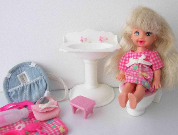 Töpfchentraining kelly doll mattel barbie er jahre spielzeug