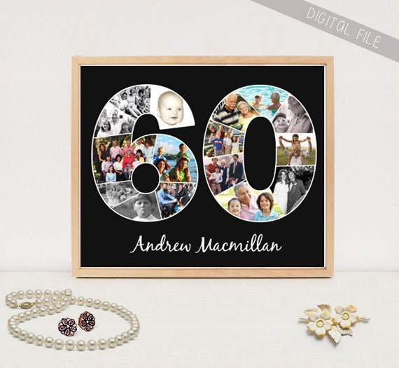 Gorgeous Personalized 60th Birthday Gifts For Her: Personalized 60th Birthday Gift Custom Birthday Gift Print