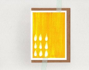 SUN SHOWER . card . frame-able blank yellow sunshine . oz au australia wandarrah etsyau . greeting card