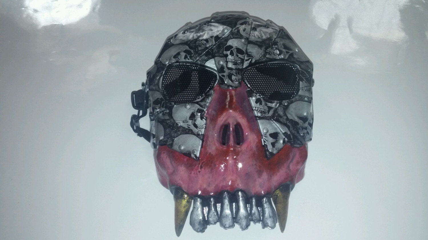 custom painted airsoft paintball horror mask by theteamlight