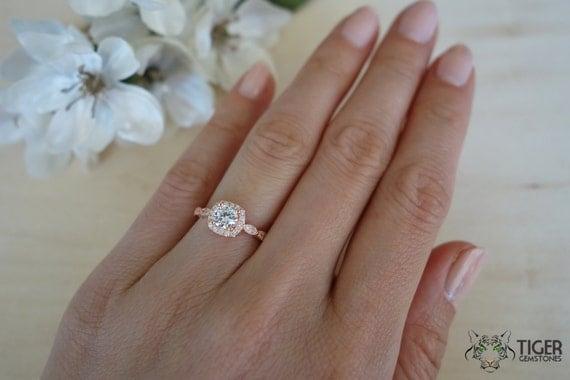 size 4 10 34 carat halo engagement ring man made diamond - Size 4 Wedding Rings