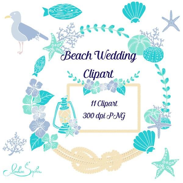Beach Wedding Clipart Nautical Wedding Invitation Clip Art Sea