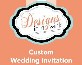 Printable Custom Wedding Invitation