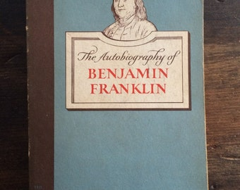 The Autobiography of Benjamin Franklin / Pocket Library Paperback / 1955