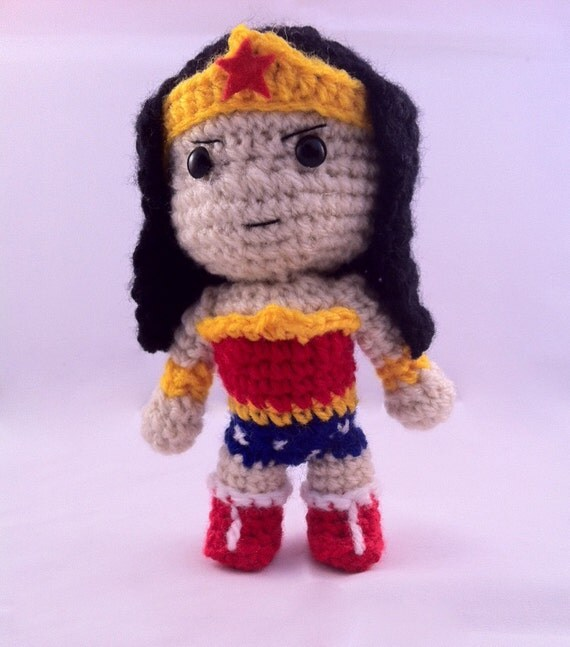 PDF CROCHET PATTERN Chibi Wonder Woman Inspired amigurumi ...
