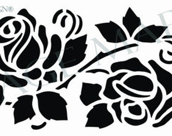 FREE SHIPPING!! Cottage Rose Vine Stencil (9876)