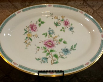 "LENOX Morning Blossom 16.5"" Oval Serving Platter - MINT"